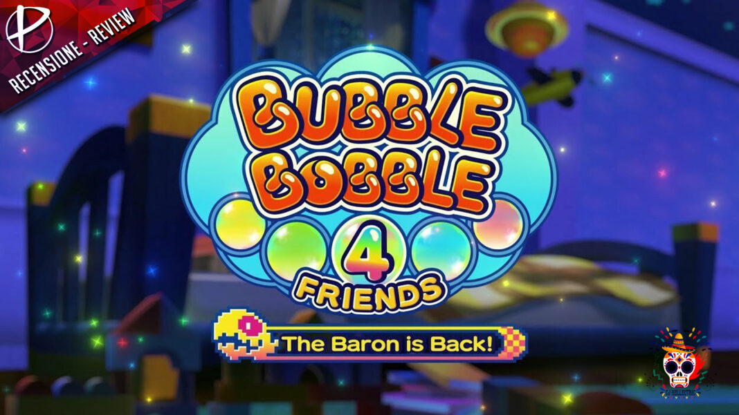 Bubble Bobble 4 Friends The Baron is Back recensione review CJ Hellectric nintendo switch games paladins nindies indie free game demo